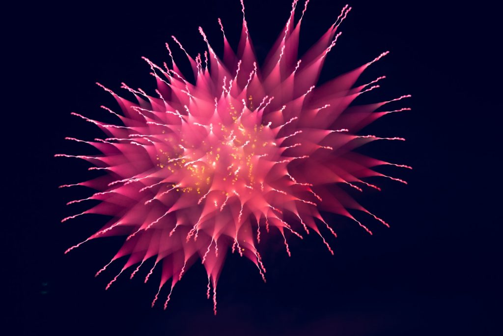 a large firework explosion